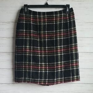 Talbots Plaid 100% Wool Skirt